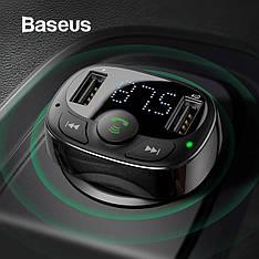 Автомобильный FM-трансмиттер Baseus S-09A модулятор USB автомобильное зарядное устройство Black