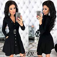 Женское осеннее платье джинс кофе черное S-M L-XL