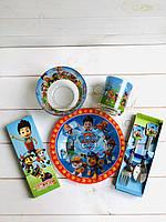 """Детская Посуда 5 предметов для кормления «Шенячий патруль"""""""
