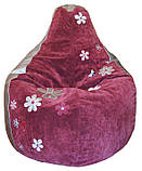 Крісло груша пуф безкаркасний Ромашка, Оксфорд, фото 5
