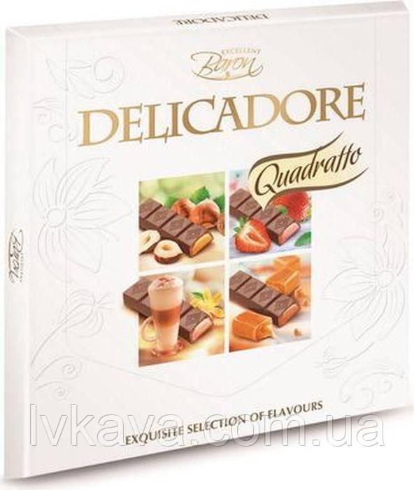 Микс молочного шоколада Delicadore Quadratto ,200 гр