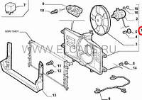 Дифузор с вентелятором 1.2 8v Doblo 2000-2005 51738718