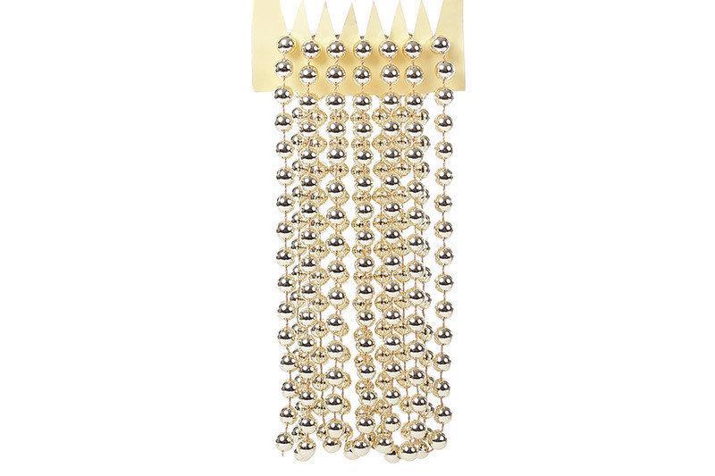 Бусы пластиковые Bonita 10мм * 2.7м Светлое золото (147-372)