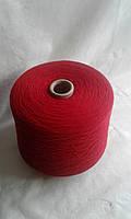 Итальянская  пряжа Lanecardate art Canberra Rosso Lambswool Меринос 100% 1550 м. / в 100 гр. Цвет Красный.
