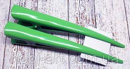 """Заколка """"Стріла"""" зелена 12см."""