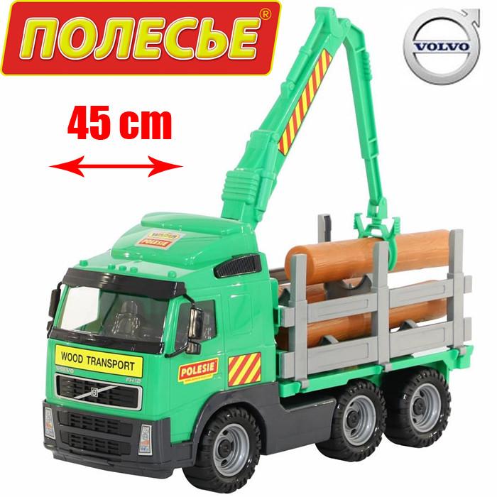 """Игрушка Polesie """"Volvo"""", автомобиль-лесовоз (в сеточке) (8756)"""