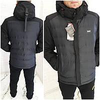 Мужская зимняя теплая куртка удлиненная тийсулент черная хаки красная 48 50 52 54 56