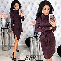 Женское зимнее теплое платье ангора софт с начесом черное серое бордовое С-М Л-ХЛ