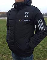 Мужская зимняя куртка Off White чорна (1004)