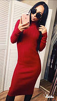 Платье тёплое женское,красное,хаки и т.синее