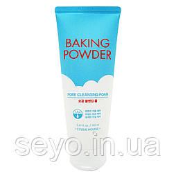 Очищающая пенка для жирной и комбинированной кожи Etude House Baking Powder Pore Cleansing Foam, 160 мл