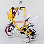 """Детский двухколесный велосипед с креслом для куклы 12"""" Corso, фото 10"""
