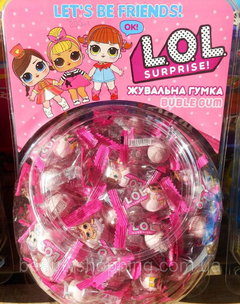 Lol Surprise Bubble Gum лол жувальні гумки з фруктовим смаком 200 шт Туреччина