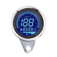 LCD Цифровий-механічний спідометр для мотоцикла одометр 12 В, хром