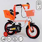 """Детский двухколесный велосипед с креслом для куклы 12"""" Corso, фото 4"""