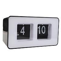 Перекидные часы Flip Clock настольные Черно-белые (FC-7B)
