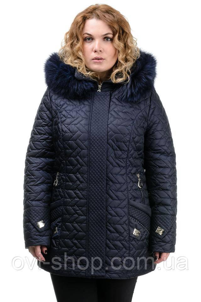 Жіноча стьобана зимова куртка