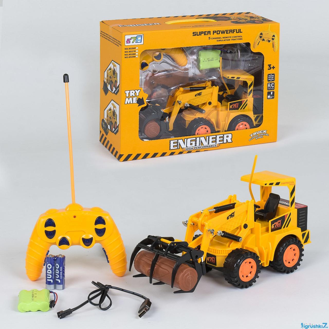 Трактор на радиоуправлении 8029 E (18) аккумулятор 3.6V, в коробке