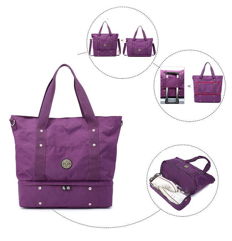 Сумка нейлоновая с отделением для обуви Jinquaer фиолетовая 02002/03