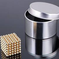 Неокуб 5 мм золото, NeoCube, конструктор магнитные шарики, головоломка неокуб (золотая)
