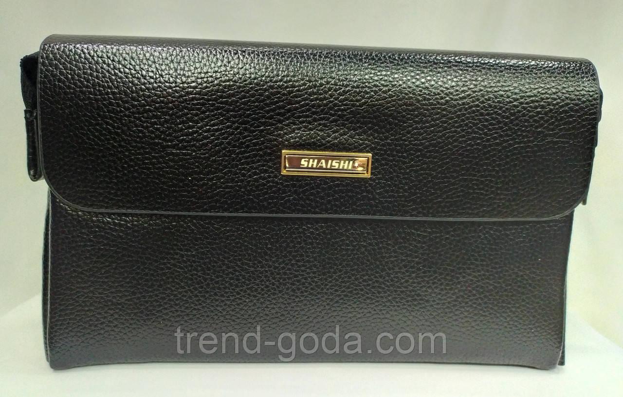 Стильна чоловіча шкіряна барсетка,невеликий клатч гаманець гаманець портмоне