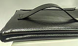 Стильна чоловіча шкіряна барсетка,невеликий клатч гаманець гаманець портмоне, фото 2