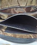 Стильна чоловіча шкіряна барсетка,невеликий клатч гаманець гаманець портмоне, фото 4