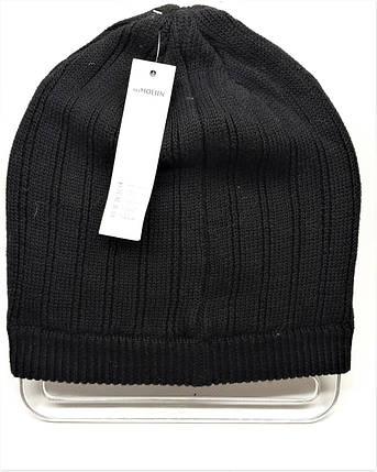 Тонкая шапка с пайетками черная, фото 2