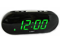 Часы сетевые Good Idea 717-2 Черные (hub_Hppv46655), фото 1