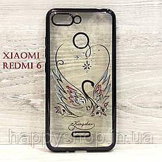 Силіконовий чохол Beckberg для Xiaomi Redmi 6 (Swan)
