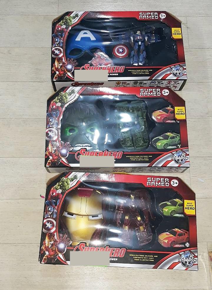 Игровой набор робот-трансформер и маска супергероя (3 вида)