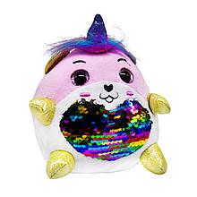 Мягкая игрушка Единорог Rainbocorns Sparkle heart (бело-розовая)