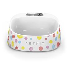 Антибактериальная миска для собак и кошек PETKIT с цифровыми весами FRESH - Белая с цветными шариками