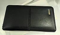 Барсетка мужская черная с плетением, одевается на руку, фото 1