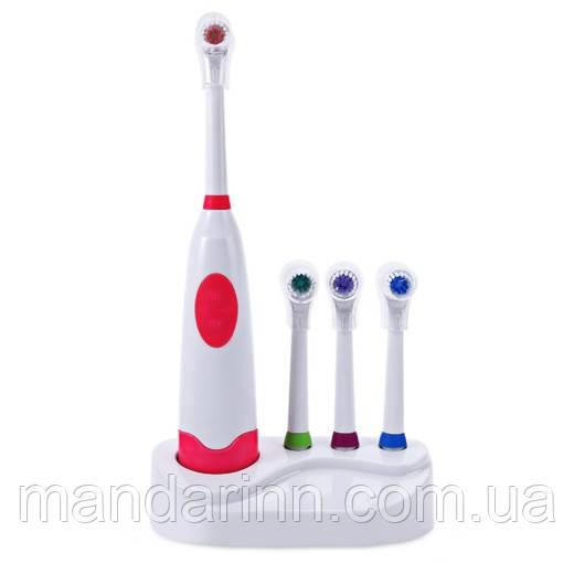 Электрическая зубная щётка Jiejinmei с 3 насадками в комплекте