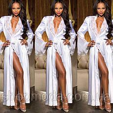 Длинный халат с кружевом. Эротическое белье. Сексуальное белье. Интимное белье., фото 2