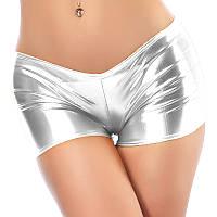 Женские шорты Caroset для танцев серебро
