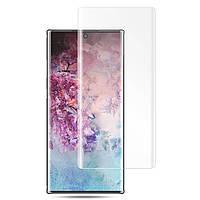 Защитное стекло 3D Tempered Glass UV для Samsung Galaxy Note 10 Plus с клеем и лампой