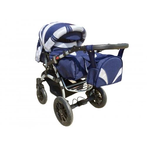 Коляска трансформер Trans Baby Prado lux синий+металлик 34/16 (прадо люкс) Бесплатная доставка
