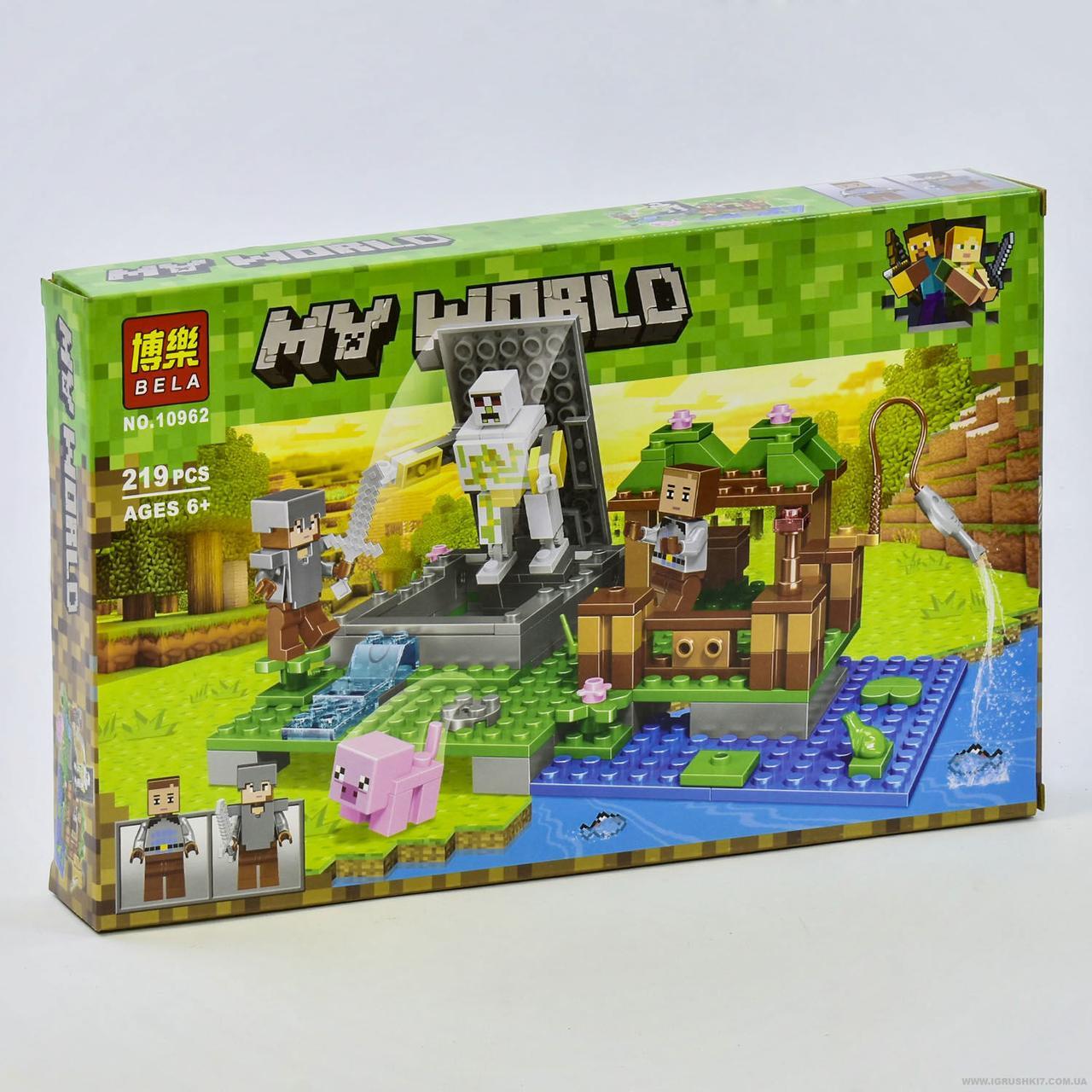 """Конструктор Bela My World 10962 (60) """"Голем на ферме"""", 219 деталей, в коробке"""