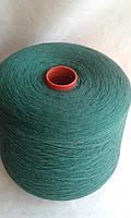 Итальянская Пряжа Zegna Baruffa Lane Borgosesia art Supergeelong. Меринос 100%,  1500 м /100 гр. Зеленый.