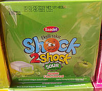 Жевательная резинка с жидким центром со вкусом яблока Shock2Shock 100 шт Турция