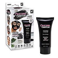 Маска-пленка для очищения пор с древесным углем Маска для лица California Charcoal Face Mask, черная маска