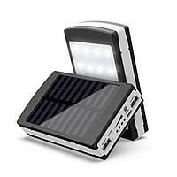 Универсальная батарея Solar PowerBank + Led 50000 mAh Black, портативное зарядное устройство
