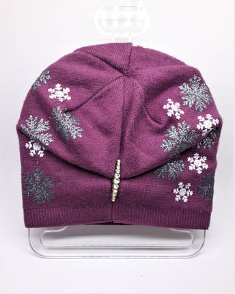 Шапка со снежинками Urchin розовая, фото 2