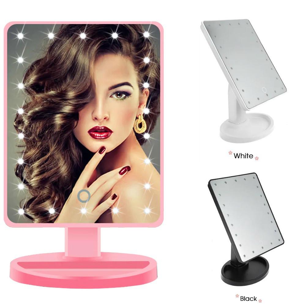 Зеркало для макияжа с подсветкой Large LED Mirror 22 лед, зеркало с подсветкой, косметическое зеркало