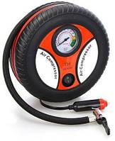 Компрессор для подкачки колес автомобильный КОЛЕСО Air Pump 250 psi с манометром + набор иголок, насос 12V