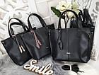 Женская сумка черного цвета, эко-кожа, фото 2