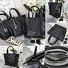 Женская сумка черного цвета, эко-кожа, фото 3