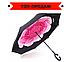 Зонт наоборот Up-Brella, ветрозащитный зонт обратного сложения, зонт антиветер, цвета в наличии, фото 4